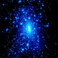 Компьютерная модель богатого скопления галактик.