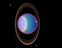 Уран, отснятый космическим телескопом Hubble (фото NASA/JPL-Caltech)