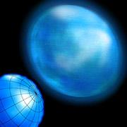 Альтаир больше не точка в небе. Перед вами его первый фотопортрет (в ближнем инфракрасном диапазоне). Внизу слева показаны меридианы и параллели звезды (фото Zina Deretsky, National Science Foundation, иллюстрация John Monnier).