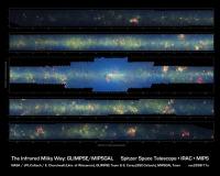 Мозаика, составленная из снимков нашей Галактики, сделанных Spitzer.