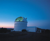 Телескоп Хобби-Эберли на фоне сумеречного неба (фото Томаса Себринга)