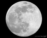 Вид Луны в перигее в декабре 2008. Фото Рона Ходжеса из Техаса.