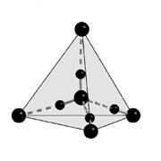 Структура льда XV. Большие кружки – атомы кислорода, маленькие – водорода (иллюстрация Christoph G. Salzmann et al.).