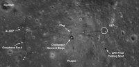 Район посадки Apollo 17. Фото NASA/GSFC/Arizona State University с сайта http://lroc.sese.asu.edu/