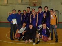 Баскетбольная команда юношей ФФ с болельшиками
