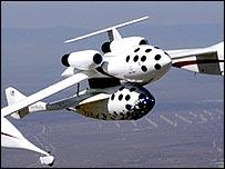 SpaceShipOne должен взлететь выше 100 км