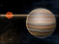 Так может выглядеть эта планета, но это не фото, а работа художника