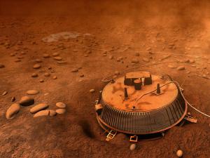 Поверхность Титана в районе прилунения зонда «Гюйгенс» (в представлении художника). Изображение с сайта www.universetoday.com