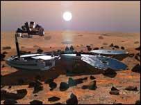 """Так должен был выглядеть """"Бигль-2"""" на поверхности Марса"""