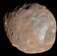Так выглядит Фобос с расстояния в 6800 километров
