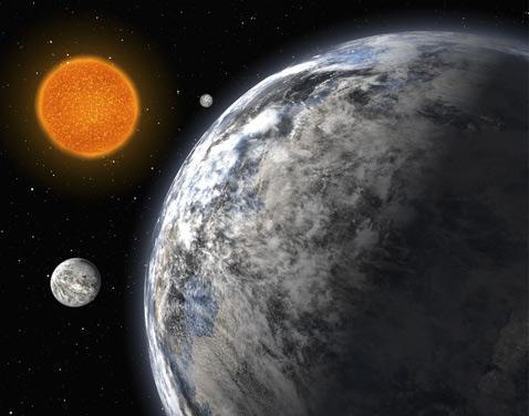 Трио Суперземель в представлении художника (иллюстрация ESO).