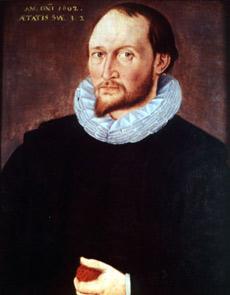 Портрет Томаса Гарриота 1602 года (изображение с сайта wikipedia.org).